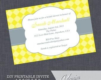DIY Printable Invitation - Engagement Party, Wedding invitation, Bridal Shower, Couples Shower Invitation, Rehearsal Dinner Invitation