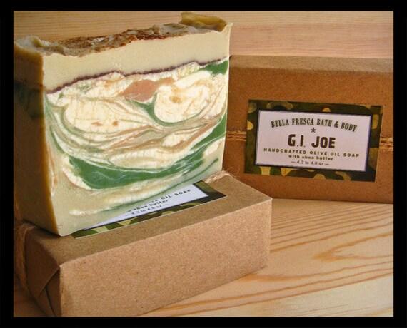 G.I. Joe Olive Oil Soap, Stocking Stuffer for Men, For Man, Gift under 10, Etsy Dude, Gift for Husband, Gift for Father, Gift for Brother