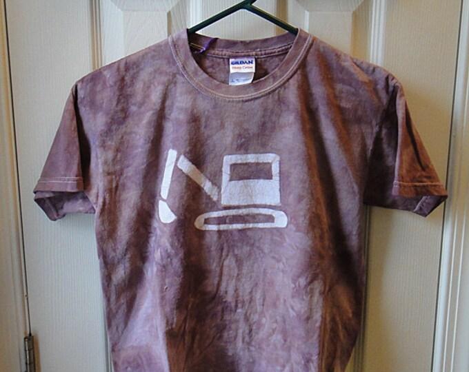 Kids Excavator Shirt, Kids Digger Shirt, Kids Truck Shirt, Boys Truck Shirt, Girls Truck Shirt, Brown Truck Shirt, Batik Truck (Youth L)