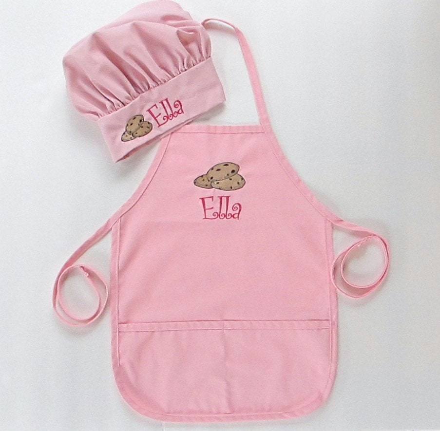 Personalized Apron AND Chef Hat For Kids Childrens