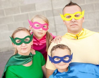 10 PACK-The most popular one size fits all hero masks-Basic Childrens SUPER HERO masks-9 colors-mix and match