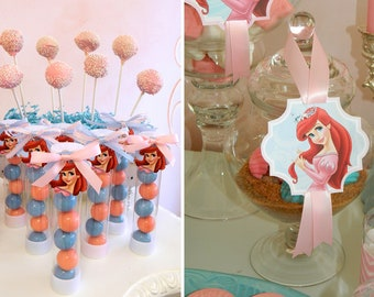 Printable Royal Princess Ariel Birthday Party (PDF)