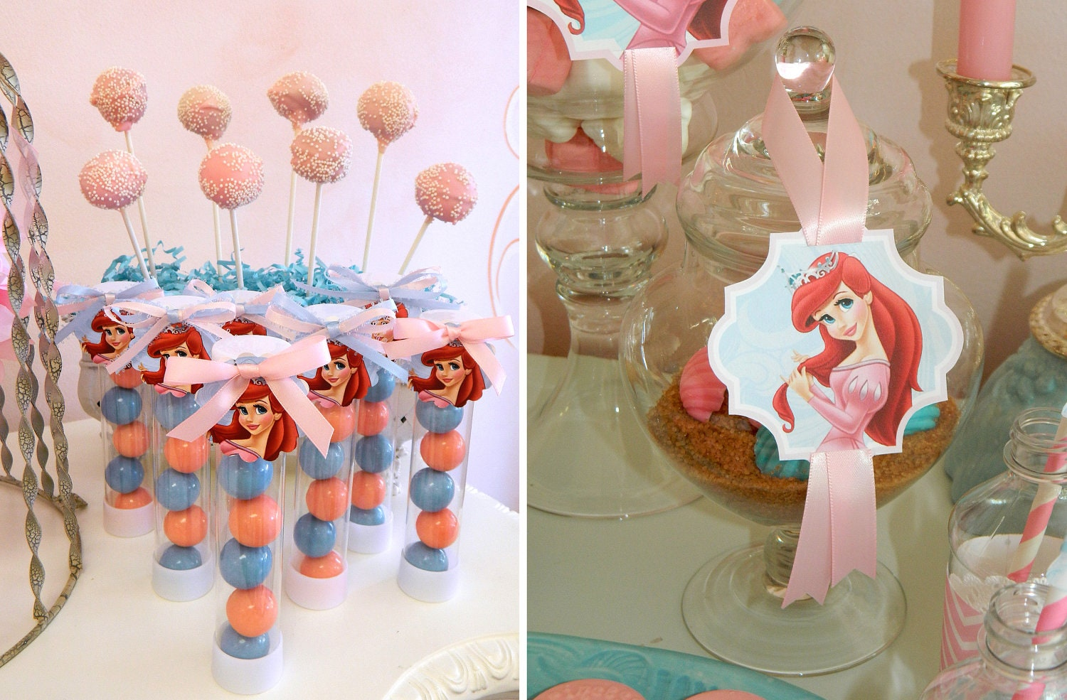 Printable royal princess ariel birthday party pdf for Ariel decoration party
