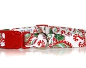 Candyland Christmas, Dog Collar,,,,,Custom Christmas Dog Collar