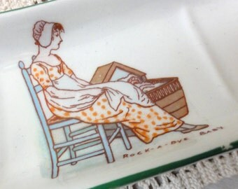 Vintage Nursery Pin Dish Kate Greenaway Sarreguemines