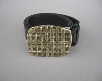Weaving, Forged Bronze Belt Buckle