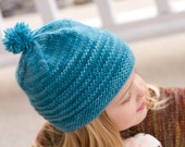 KNITTING PATTERN for worsted weight hat for baby, child and adult