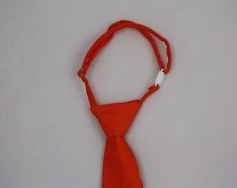 Bright Orange Clip on Necktie - Infant, Toddler, Boys