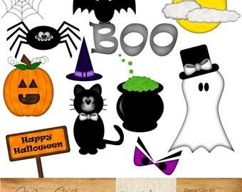INSTANT DOWNLOAD   Digital Clip Art   Halloween Clipart, Halloween Clip Art,  Black Cat