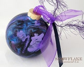 PEACOCK Custom Christmas Ornament - Personalized Glass Gift