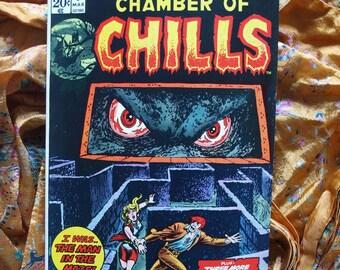 Chamber Of Chills No 9 Marvel Comics 1974 Horror Evil Terror Shocker Maze Sci Fi Comic Book Magazine VF/NM Condition