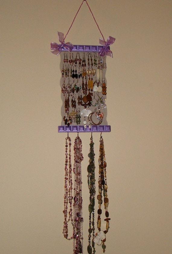 On Sale   Jewelry Organizer Jewelry Holder Jewelry Display 'Purple Passion'