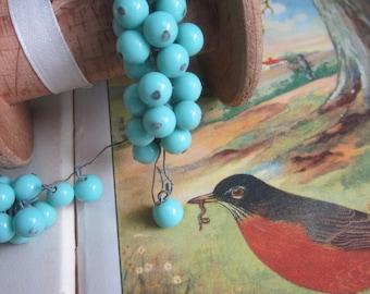 Vintage Japanese Robin Egg Blue Glass Drops