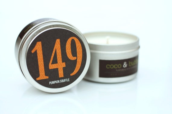 No. 149: PUMPKIN SOUFFLE // Natural Soy Candle // 6 oz Tin // Highly Scented