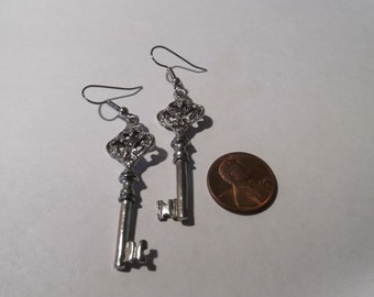 The Victorian Key Earrings