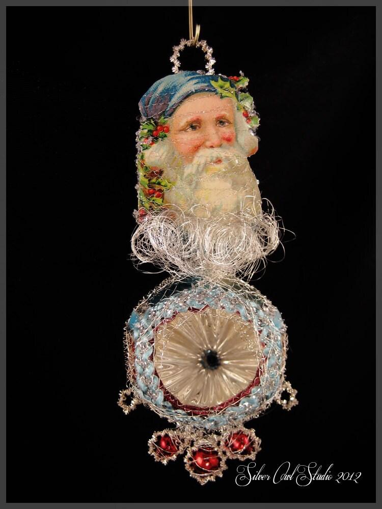 Victorian christmas ornament frosty santa