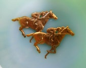 Large Race Horses (2 pc )