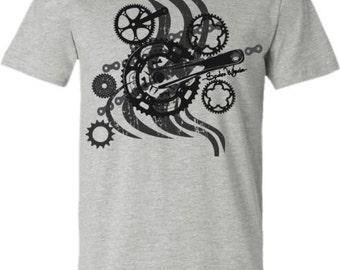 Bicycle T-Shirt-CRANKY- Bicycle T-shirt,Mountain bike T-Shirt,Grey-MTB,Bike gift,Gifts for cyclists,road bike t-shirt,for him