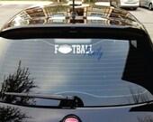 Sports Car Decal -  Car Sticker - Football Decal - Soccer Decal - Baseball Decal - Volleyball Decal