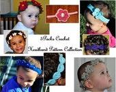 Crochet Pattern PDFs - 5Packs Crochet Headband Pattern Collection - All Headband Patterns in Shop