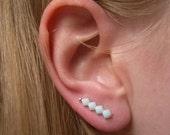 Mint Stud Earrings, Crystal Pins, Swarovski Pin Earrings, Fashion Jewelry UK