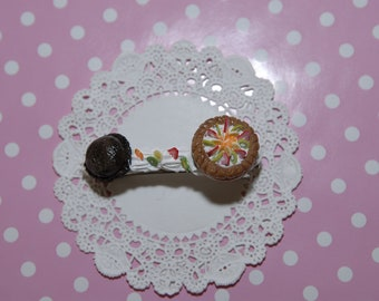 Yummy  Fruit Tart Barrette - From gitana's Yummies New Collection