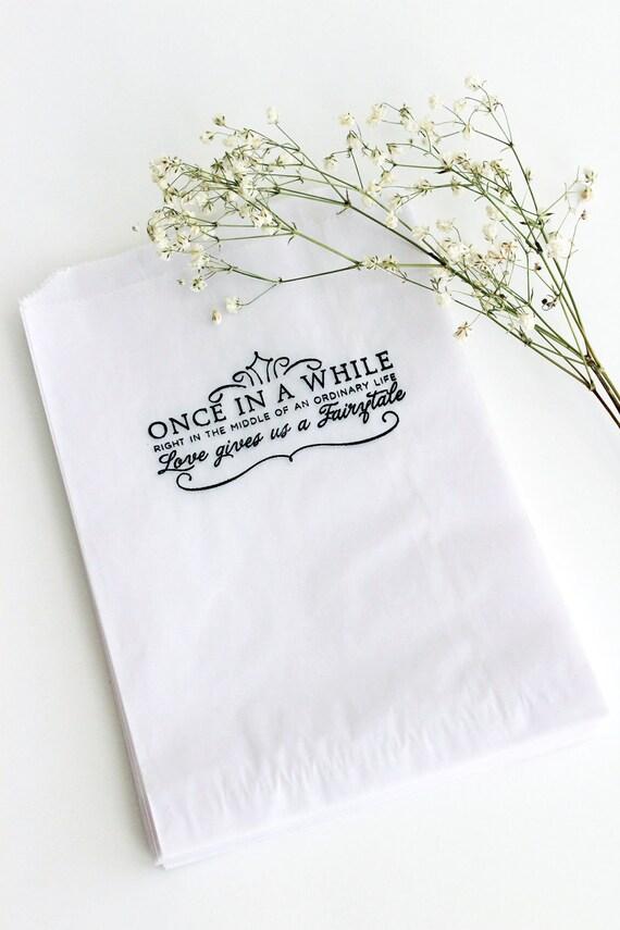 Candy Bar Bags Favor Bags Wedding Glassine Bags