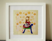 Marischka and Polka - Wall decor - Art print 12x12 with frame
