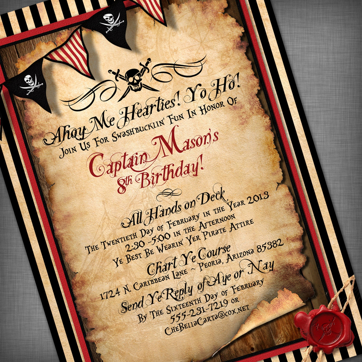 Pirate Party Invitation Wording with beautiful invitations ideas