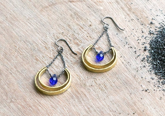 the Crescent & Drop earring