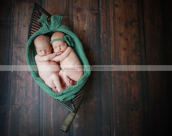 Twin Pea in a Pod Cocoon Newborn Photography Prop Made to Order