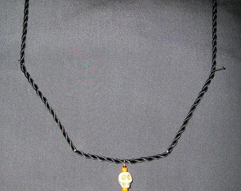 White Howlite Skull bead necklace