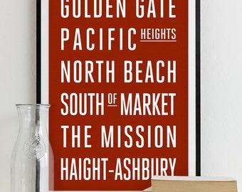 San Francisco Subway Sign - Typography Print - Modern Home Decor - Art Poster