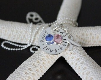Cancer Awareness Sterling Silver Hand Stamped Necklace