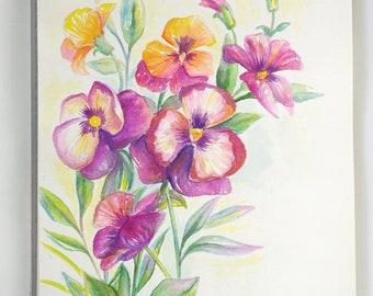 SALE - Original watercolor A4 size - Shipping worldwide - Flowers bloom -  Art - Paper - Home - Wall art - Flowers