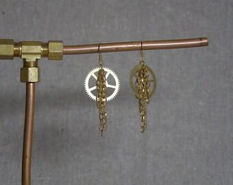 Brass Steampunk Gearrings