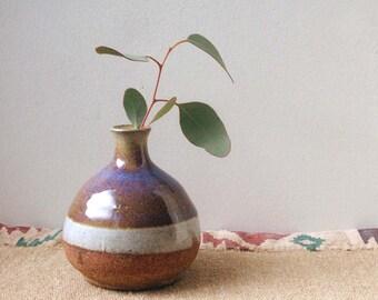 vintage studio pottery vase, bud vase