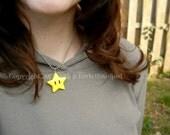 "Super Mario Bros. Star Necklace - 15"" Length"