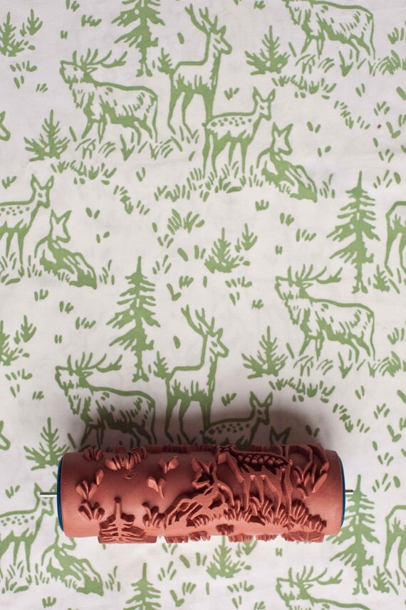 Printed Paint Rollers no. 6 patterned paint roller from the painted house