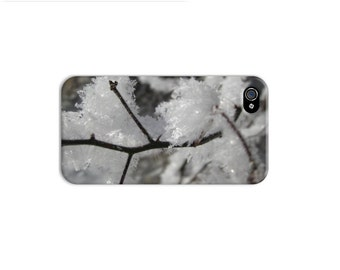 Frozen iphone 6 case, Winter iphone 5 case, unique iphone 4 case, snow iphone case, nature iphone, tree iphone se case, frost covered tree