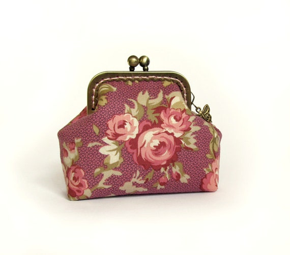 Roses Dusty Pink Coin Purse