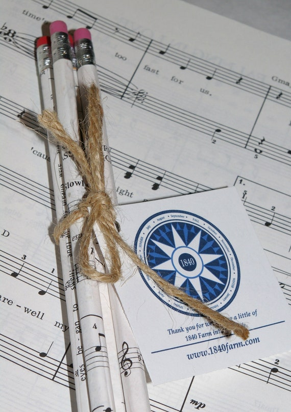 Hand Wrapped Pencil Set - Sheet Music