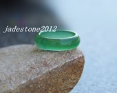 Natural Transparent green jade stone ring fashion ring,jade ring( US size6.5 - 10 )