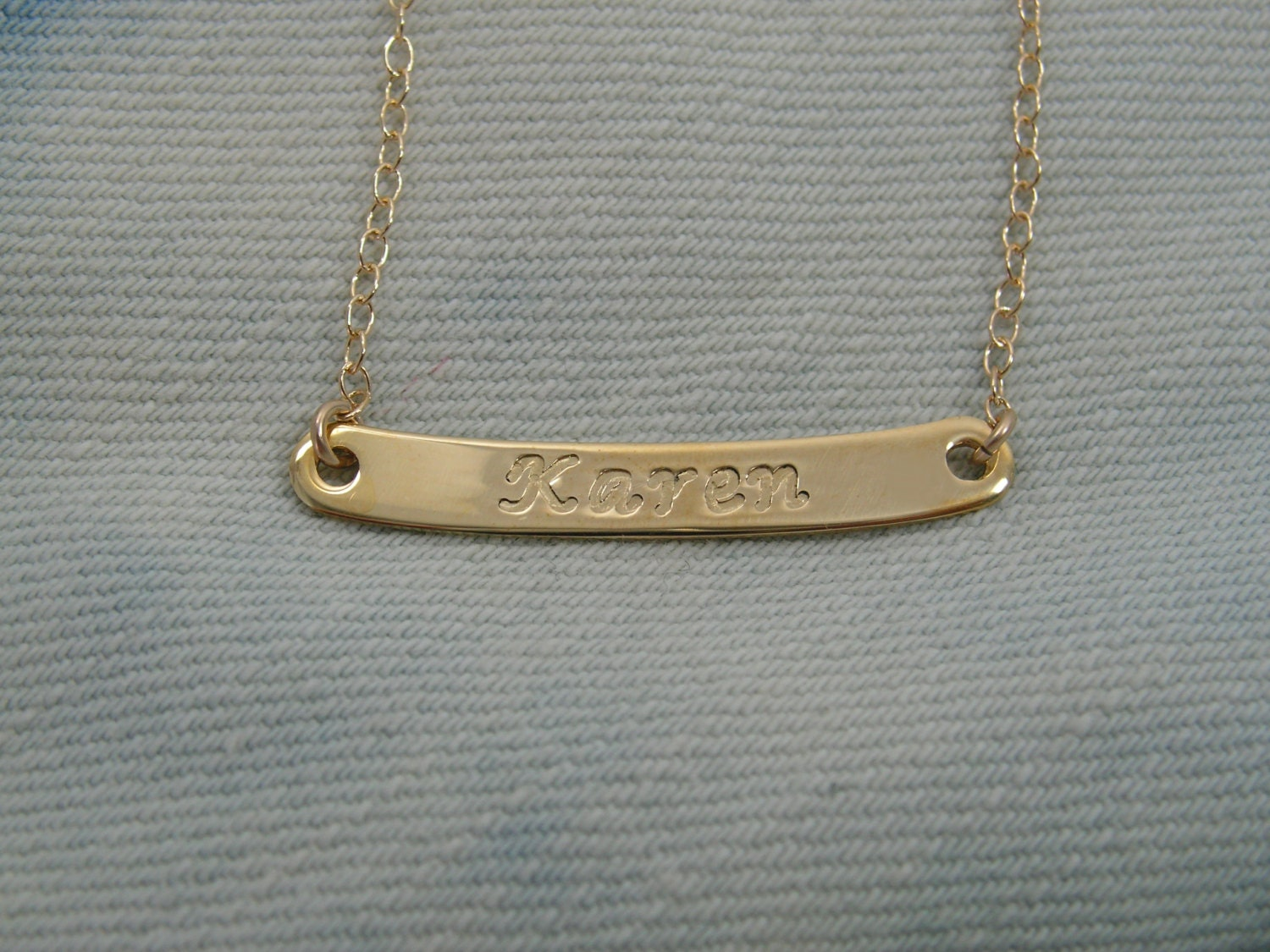 name plate necklace personalized gold name plate by