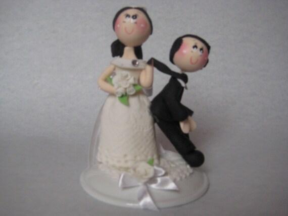 Funny Wedding Cake Figurine Funny Wedding Cake Topper Custom