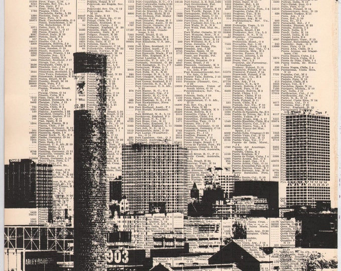 LAST CHANCE - Milwaukee Skyline Art Print