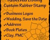 Custom Rubber Stamp - business logos, art stamps, address stamps, wedding stamps- RESERVED for  Cassi