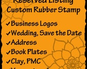 Custom Rubber Stamp - business logos, art stamps, address stamps, wedding stamps- RESERVED for Kelly