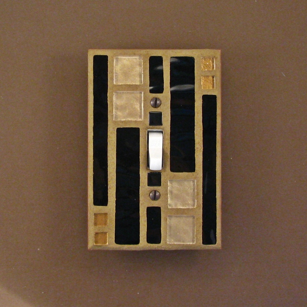 Single Toggle Stained Glass Mosaic Switch Plate Light