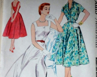 Vintage 50's McCall's 3135 Sewing Pattern, Dress And Bolero, Size 14, 32 Bust